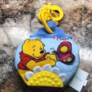 Winnie the Pooh Baby Book Hanging Crinkle Teether